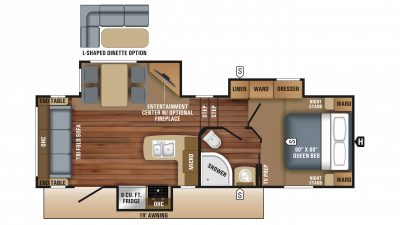 2018 Eagle HT 24.5CKTS Floor Plan