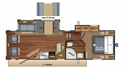 2018 Eagle HT 26.5RLDS Floor Plan