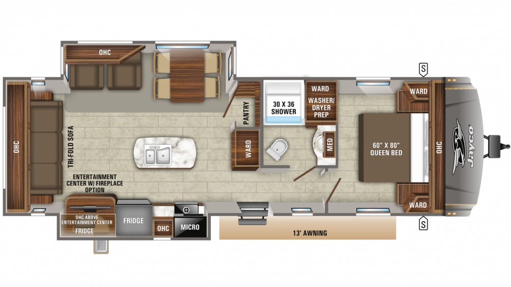 2019 Eagle HT 280RSOK Floor Plan Img