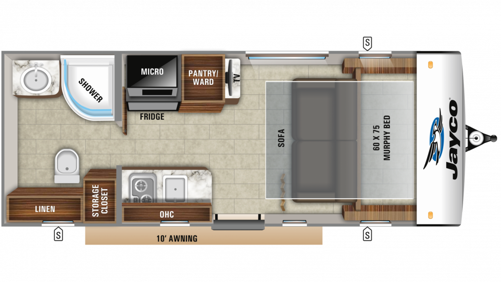 2019 Hummingbird 16MRB Floor Plan Img