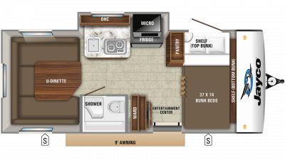 2019 Hummingbird 17BH Floor Plan Img