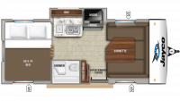 2019 Hummingbird 17FD Floor Plan