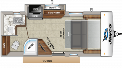 2019 Hummingbird 17MBS Floor Plan Img