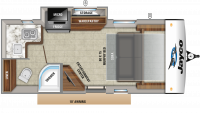 2019 Hummingbird 17MBS Floor Plan