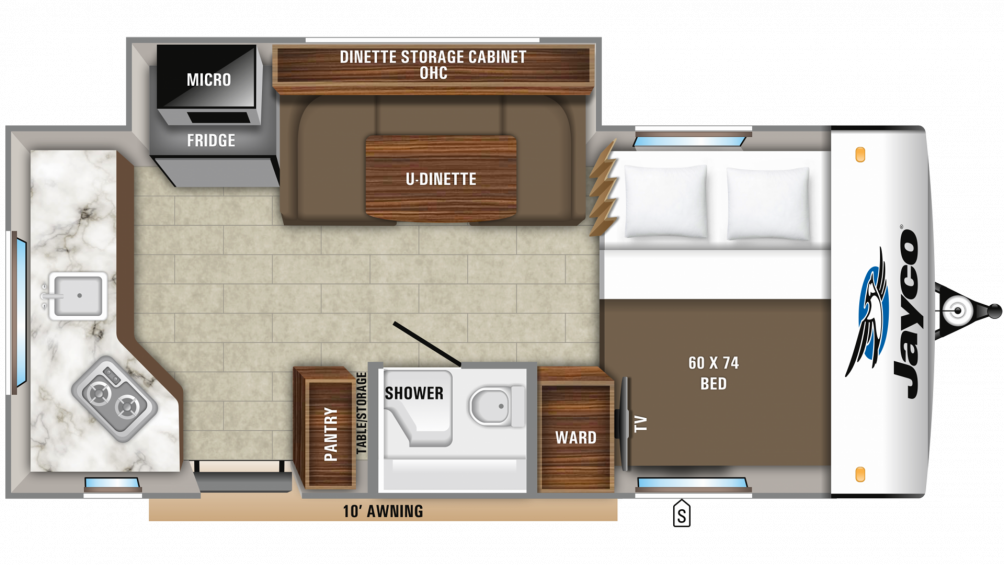 2019 Hummingbird 17RK Floor Plan Img