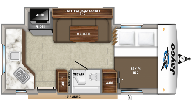 2019 Hummingbird 17RK Floor Plan