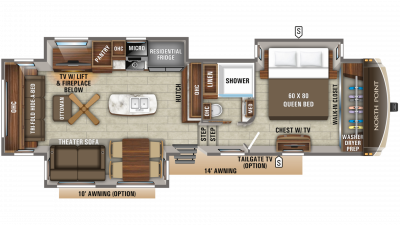 2019 North Point 315RLTS Floor Plan Img