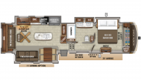 2019 North Point 381DLQS Floor Plan