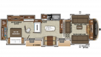 2019 North Point 381FLWS Floor Plan