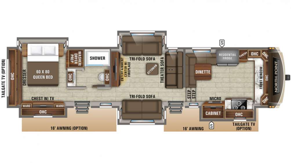 2019 North Point 383FKWS Floor Plan Img