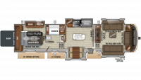 2019 North Point 385THWS Floor Plan