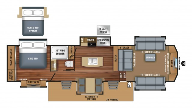 2018 Pinnacle 38FLWS Floor Plan