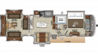 2019 Pinnacle 38REFS Floor Plan