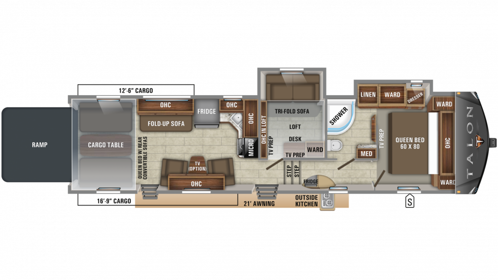 2019 Talon 392T Floor Plan Img