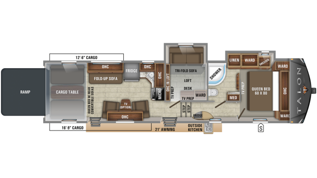 2019 Talon 392T Floor Plan