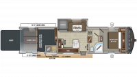 2019 Talon 393T Floor Plan