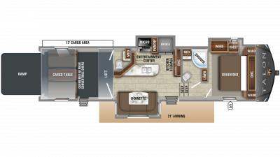 2019 Talon 403T Floor Plan Img