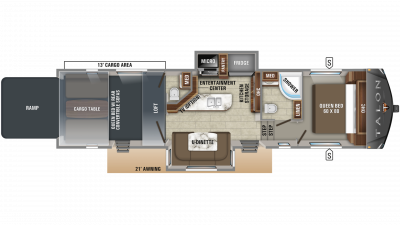 2019 Talon 413T Floor Plan Img