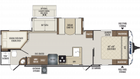 2019 Bullet 290BHS Floor Plan