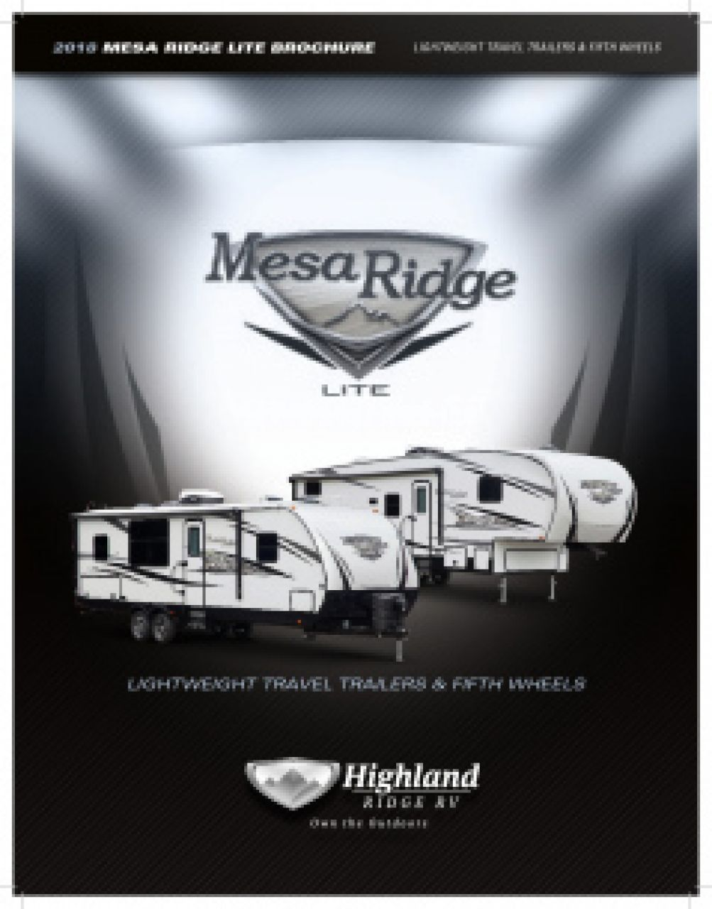 2019 Highland Ridge Mesa Ridge Lite RV Brochure Cover