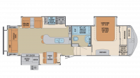 2018 Columbus Compass Series 298RLC Floor Plan