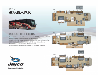 2019 Jayco Embark RV Brochure Cover