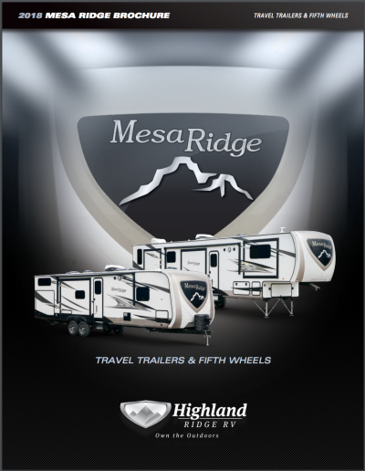 2019 Highland Ridge Mesa Ridge RV Brand Brochure