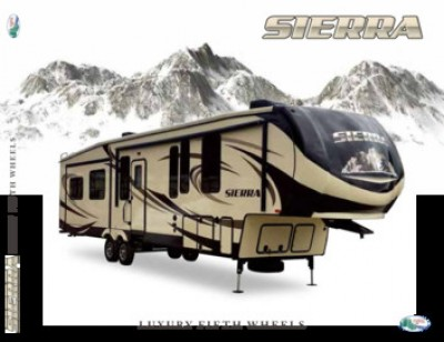 2017 Forest River Sierra RV Brand Brochure Cover