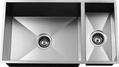 "31"" Zero Radius Undermount Stainless Steel Double Bowl Sink - Reversible 3118DBZR-R"