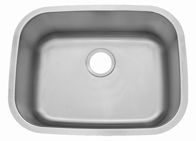 "23"" ADA Undermount Stainless Steel Single Bowl Sink: ADA-2318 (5.5"" Depth)"
