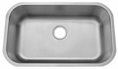 "30"" ADA Undermount Stainless Steel Large Single Bowl Sink: ADA-3018 (5.5"" Depth)"
