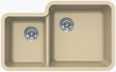 """33"""" Lexington Undermount Composite Granite  Double Bowl Sink 452-DOM Beige"""