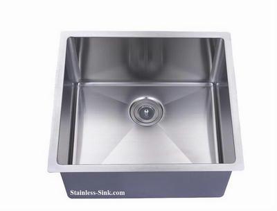 """22"""" Single Bowl Undermount Stainless Steel Kitchen Bar Prep Sink: BEL-2220-DOM (16 gauge)"""