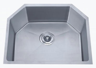 "24"" Unique 6 sided Stainless Steel Undermount Kitchen, Bar, Prep, Island Sink: BEL-2318-DOM (16 gauge)"