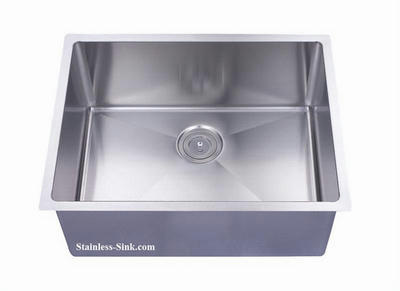 "26"" Single Bowl Undermount Stainless Steel Kitchen Sink: BEL-2620-DOM (16 gauge)"