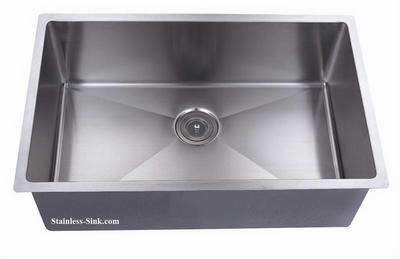 "32"" Single Bowl Undermount Stainless Steel Kitchen Sink: BEL-3220-DOM (16 gauge)"