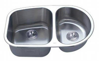 "31"" Italia Undermount Stainless Steel Double Bowl Kitchen Sink IT-200S with FREE ACCESSORIES"
