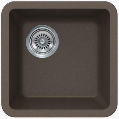 "14"" Lexington Undermount Composite Granite  Single Bowl Sink 169-DOM Mocha"