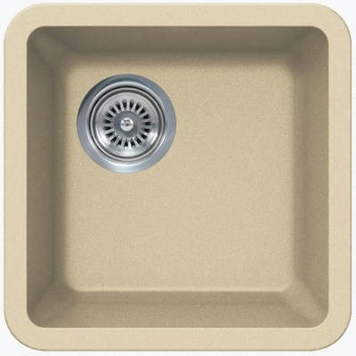 "14"" Lexington Undermount Composite Granite  Single Bowl Sink 163-DOM Beige"