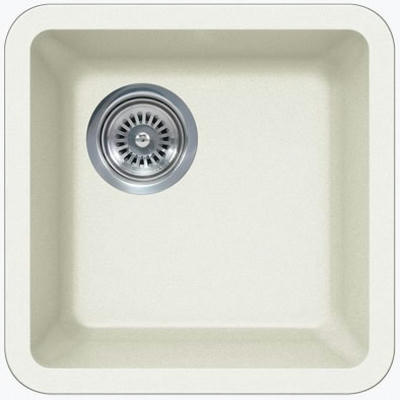 "14"" Lexington Undermount Composite Granite  Single Bowl Sink 165-DOM White"