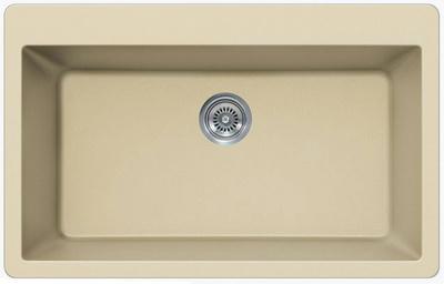 "33"" Lexington Drop-In or Undermount Composite Granite  Single Bowl Sink 343-DOM Beige"