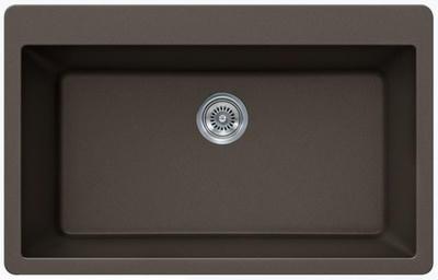 "33"" Lexington Drop-In or Undermount Composite Granite  Single Bowl Sink 349-DOM Mocha"