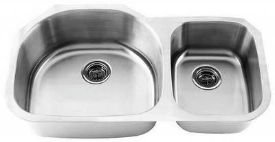 "32"" Ellis 70/30 Undermount Stainless Steel Double Bowl Kitchen Sink 16 Gauge EL-0105-D"