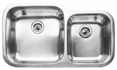 "32"" Ellis 60/40 Undermount Stainless Steel Double Bowl Kitchen Sink 16 Gauge EL-0305"
