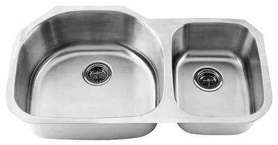 "35"" Ellis 70/30 Undermount Stainless Steel Double Bowl Kitchen Sink 16 Gauge EL-0405D"