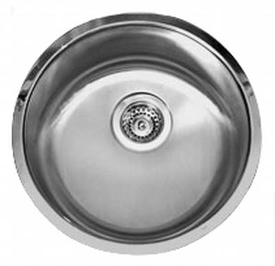 "17"" Ellis Round Undermount Stainless Steel Single Bowl Kitchen, Bar, Prep Sink 18 Gauge EL-0905"