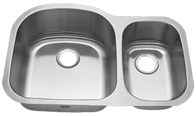 "32"" Ellis 70/30 Undermount Stainless Steel Double Bowl Kitchen Sink 18 Gauge EL-0421"