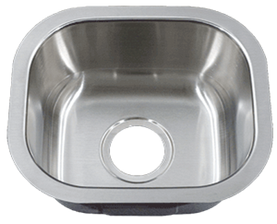 "15"" Ellis Undermount Stainless Steel Small Single Bowl Sink     18 Gauge EL-1513"