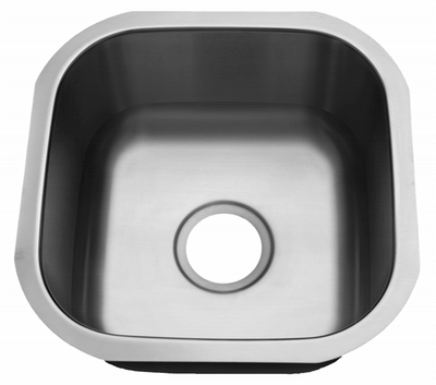 "16"" Ellis Undermount Stainless Steel Small Single Bowl Sink 18 Gauge EL-1616"