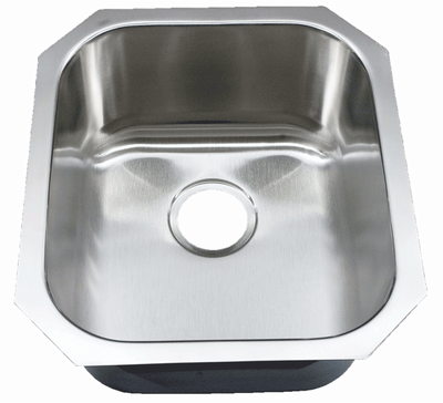 "16"" Ellis Undermount Stainless Steel Small Single Bowl Sink 18 Gauge EL-1618"